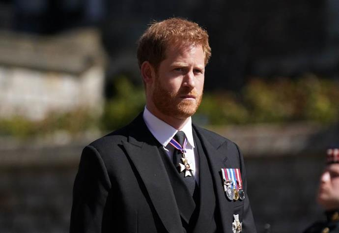 Prince Harry flew in at the last minute to be there for the funeral.