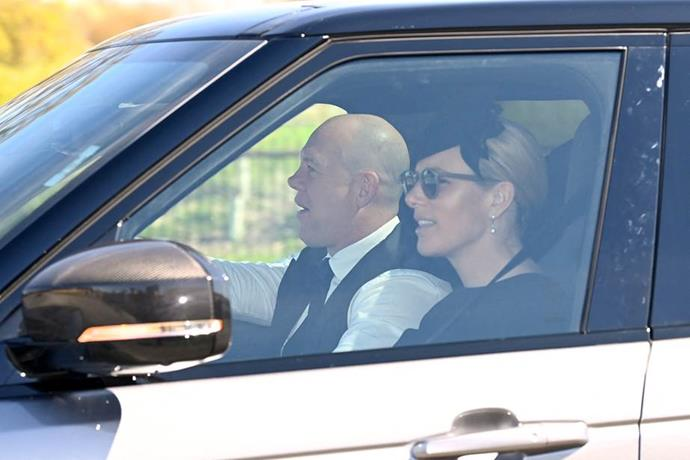 Zara And Mike Tindall were also seen arriving by car.
