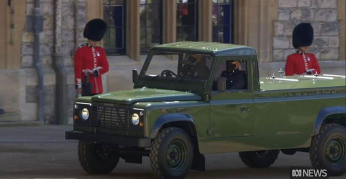 Prince Philip's casket was driven into Windsor in a car designed by the Royal himself.