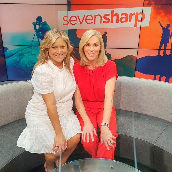 Filling in with Toni Street on *Seven Sharp*.