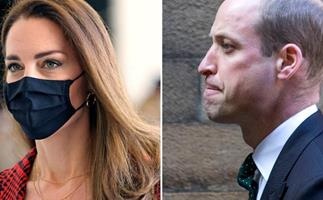 Prince William awaits Duchess Catherine's arrival after an emotional weekend in Scotland