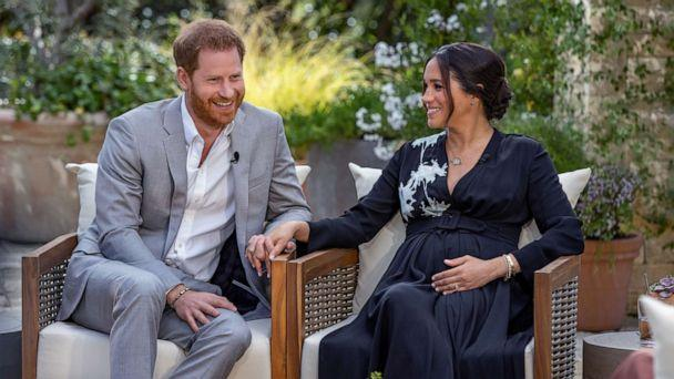 The pair shared in their tell-all Oprah Winfrey interview they were expecting a little girl. (CBS)
