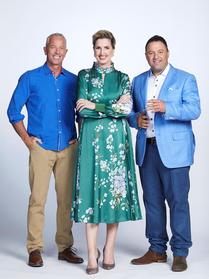With *The AM Show* co-stars Amanda Gillies and Duncan Garner