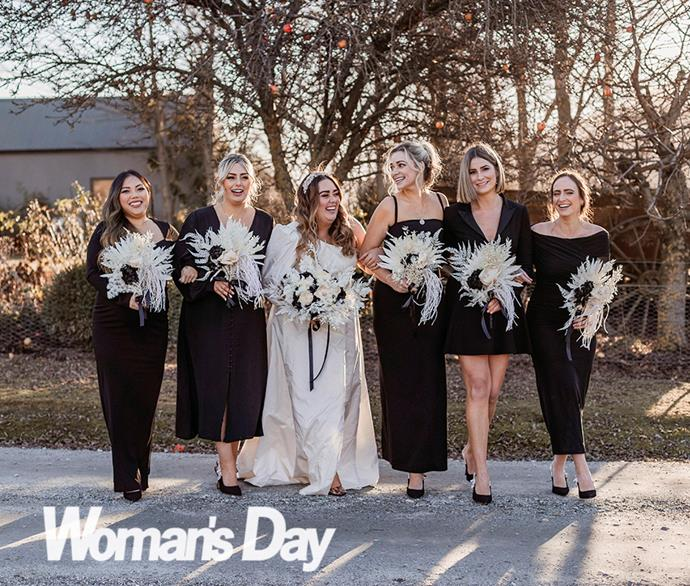 The bride surprised her girls with Dior slingbacks on the morning.