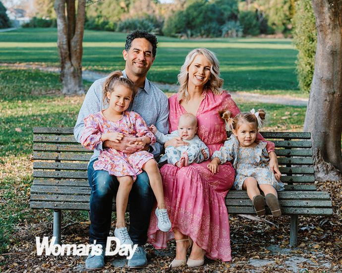 """Jo and Ali have their perfect family locked in with daughters (from left) Thea, Jemima and Heidi. """"They're going to be friends for life,"""" says Ali."""