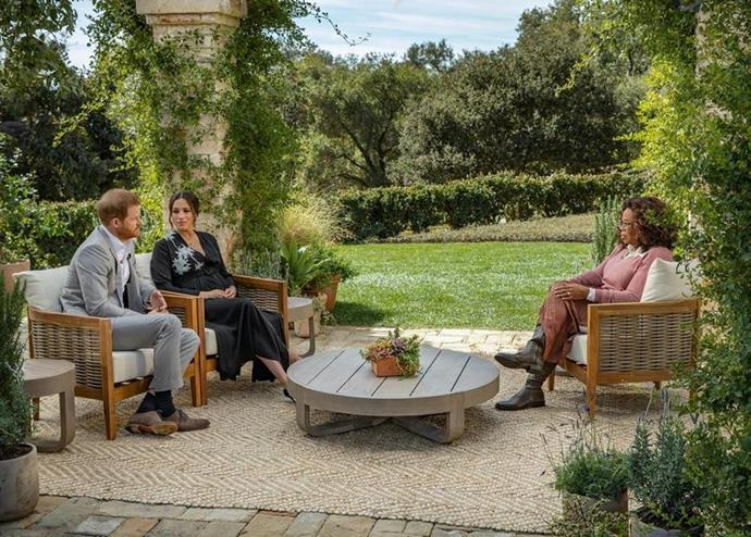 Harry and Meghan appeared for a tell-all interview with Oprah earlier in 2021. *CBS*