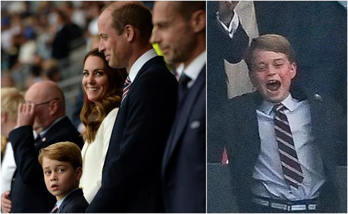 Prince George has made several public appearances alongside his parents lately. Here, the enthusiastic soccer fan cheers on his beloved English soccer team at the EURO soccer finals.