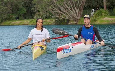Kiwi kayakers Anne Cairns and Carl Barnes' love story