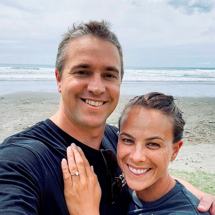 Together for 11 years, Lisa and Michael recently got engaged in her happy place, Ōhope beach