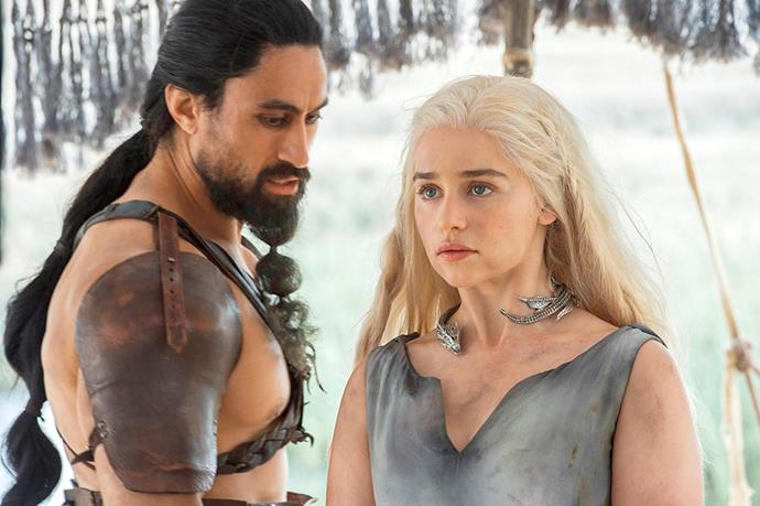 With co-star Emilia Clarkson on Game of Thrones