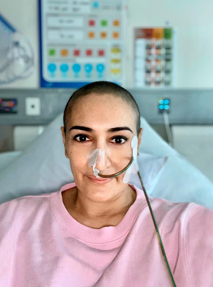 """Sophia during chemotherapy. """"You feel like you've lost a bit of your femininity."""""""