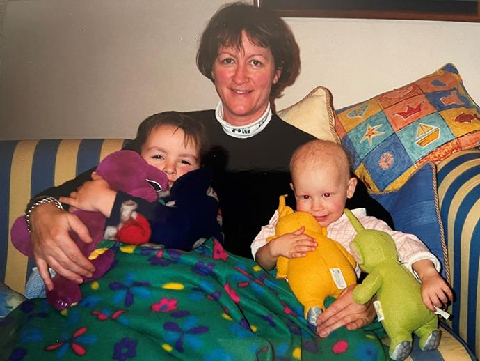Rebecca with her mum and brother Nick.