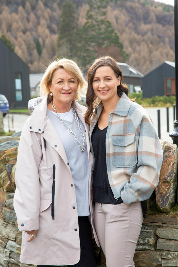 With mum Philippa, who's paid for Rebecca's IVF.