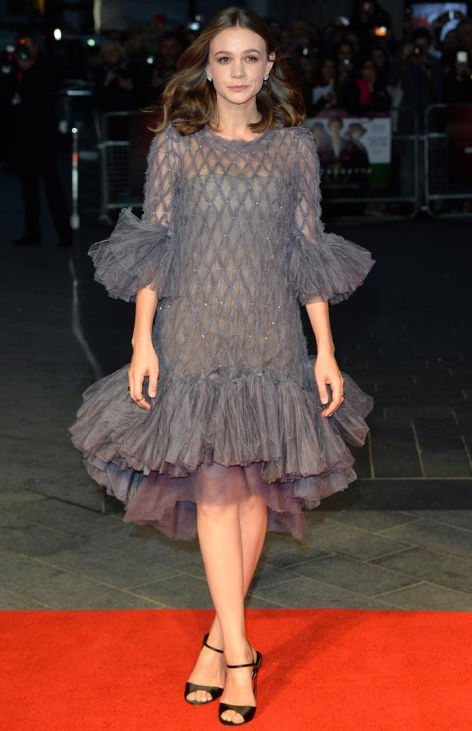 Carey Mulligan in Chanel at the London Film Festival premiere of *Suffragette*