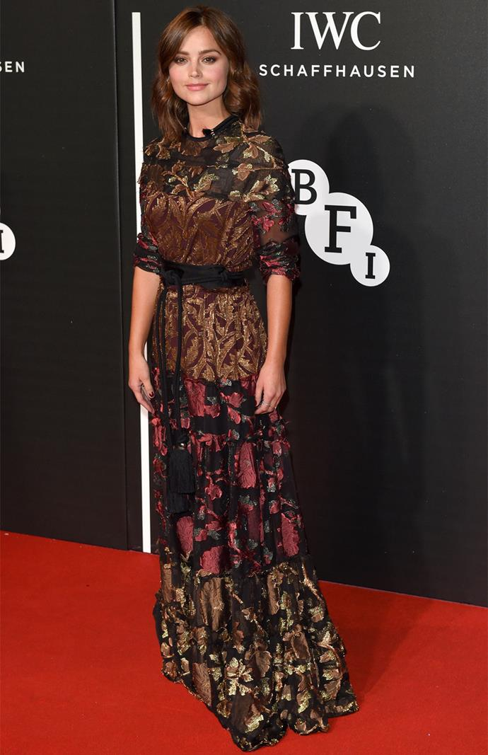 Jenna Coleman in Lanvin at the BFI Luminous Fundraising Gala