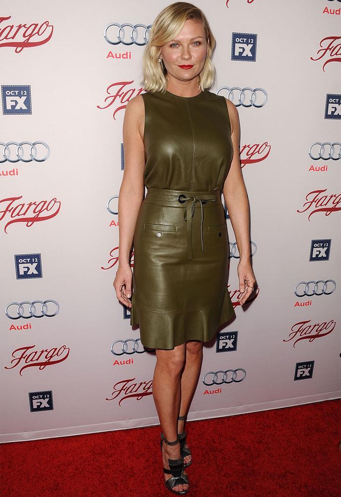 Kirsten Dunst in Proenza Schouler at the Season Two premiere of *Fargo*