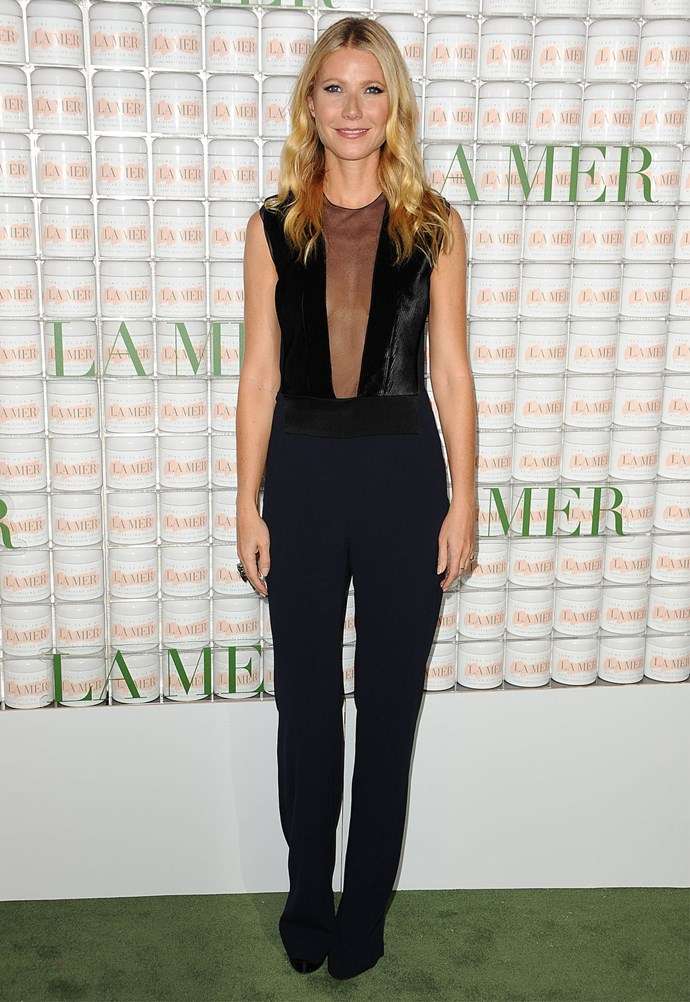 Gwyneth Paltrow in Galvan at an event celebrating skincare brand La Mer. Photo: Getty