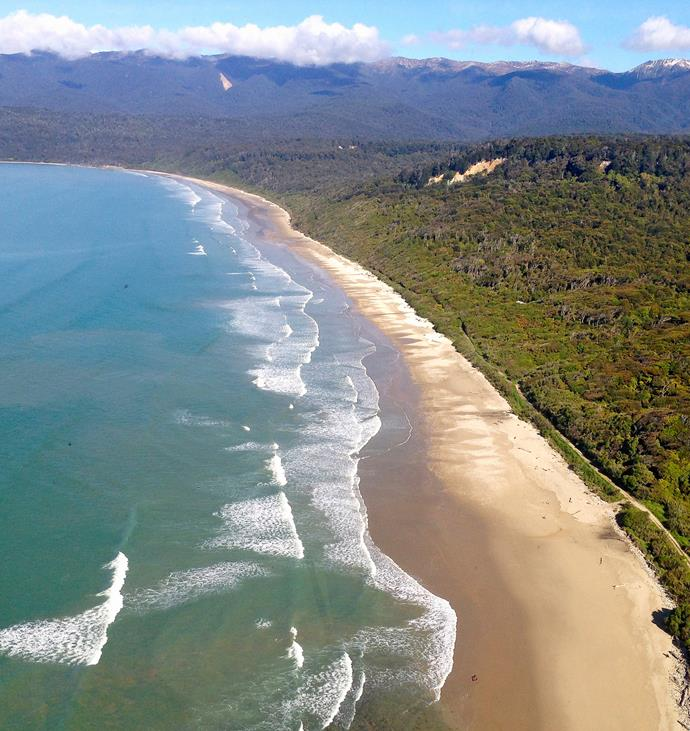 The sand beneath your toes is one thing, but Te Waewae Bay from a chopper totally rocks.