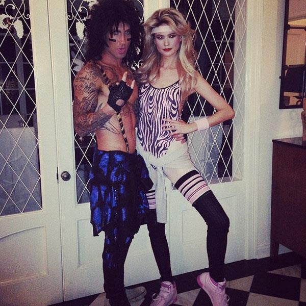 Last year, Adam Levine and his wife Behati Prinsloo took a trip back to the '80s as Tommy Lee and Heather Locklear.