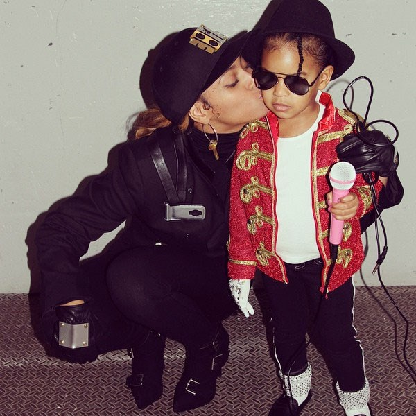 Beyonce and Blue wore matching costumes in 2014 as Janet and Michael Jackson - how adorable!