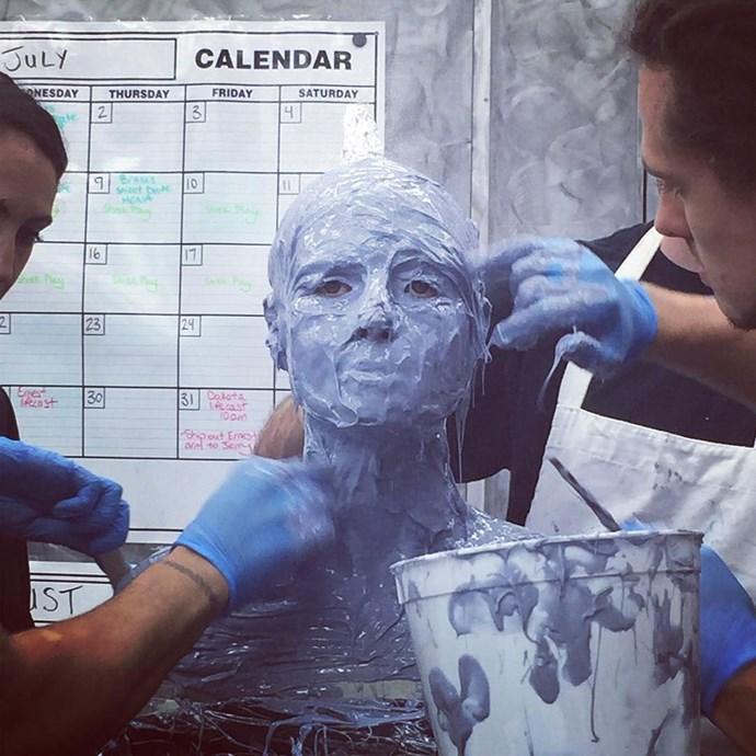 In another sneak peek posted on Instagram, Heidi gets covered in blue goop.