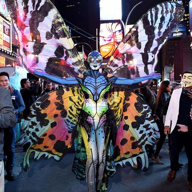Last year, Heidi was unrecognisable as a multi-coloured butterfly complete with reflective bug eyes, massive wings and antennae!