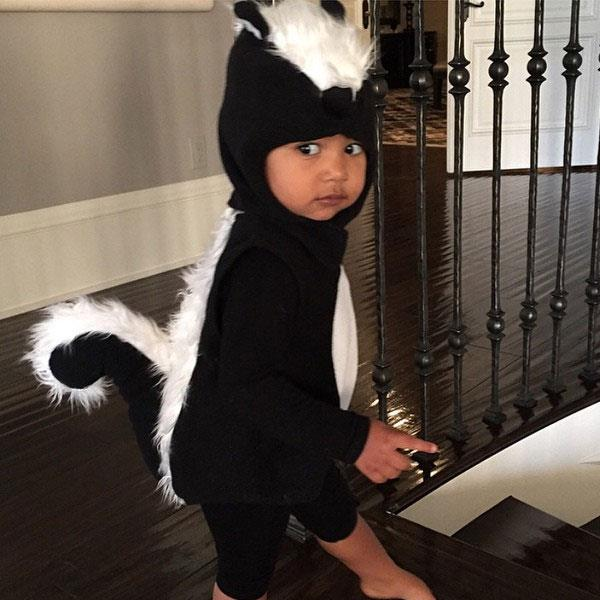 Last year, North looked adorable in her Pepe Le Pew skunk costume.