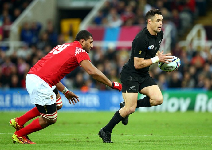 **October 2015**: Dan in action during the All Blacks' game against Tonga in Newcastle. Photo: Getty