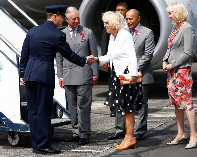 Charles and Camilla depart New Zealand for their next stop in Australia. Photo: Getty