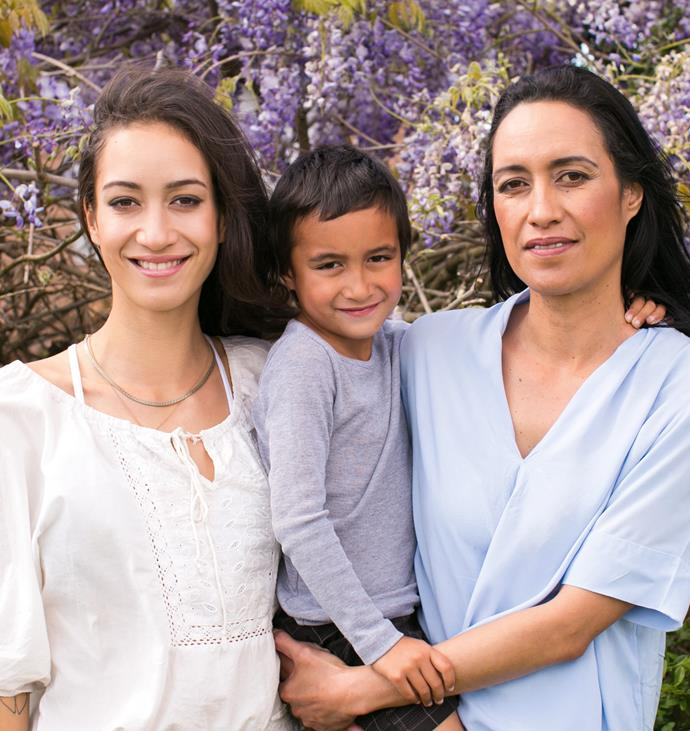 Hope, with brother Kaitiaki and mum Nikki, is grateful for the Kiwi breakthrough that has allowed her family to protect themselves against this deadly disease.