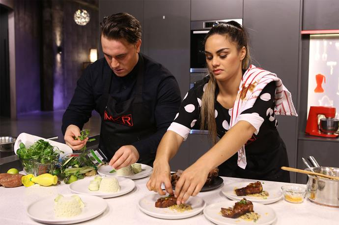 Sarah and Jay in action on *MKR*. Photo: Supplied
