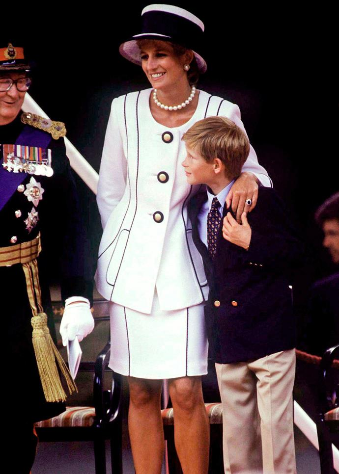 Prince Harry and his late mother Princess Diana. Photo: Getty