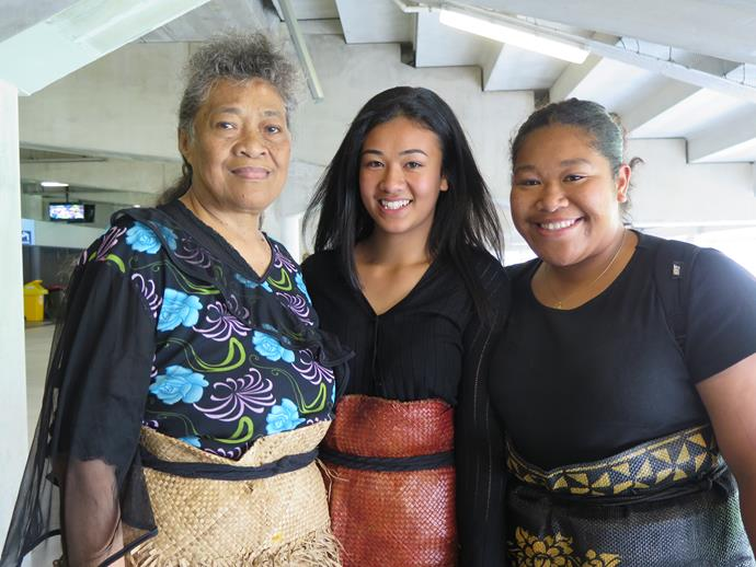 """Among the thousands who came to pay tribute were Lomu extended family members, schoolgirl Mele Hala, 17, Abigail Hala, 16 and their grandmother, Petiola Hala. """"My nana is his dad's cousin,"""" says Mele. """"I met him a few times at family gatherings. There was one time, for a family birthday, where he didn't want to eat anything fatty, and he kind of looked at me with envy as I was eating – like: 'Don't eat that, cos I want it!"""""""" she laughs. """"He was a really good man. This is good,"""" she gestured. """"It's a good time to remember him, for the New Zealand public and for the whole world."""""""