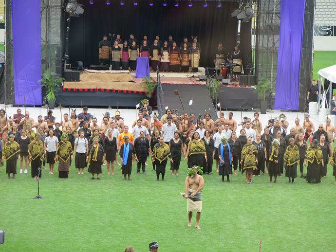 The memorial opened with a rousing traditional haka and powhiri, or welcome, performed by indigenous Maori representatives of Auckland's Ngati Whatua people.