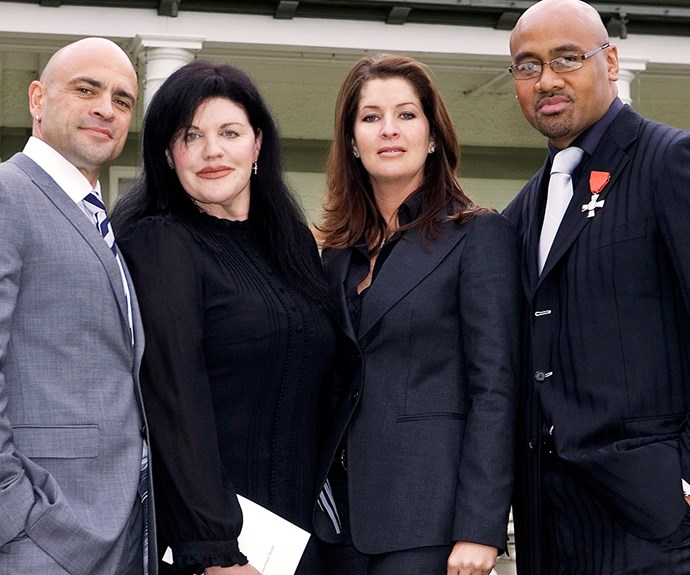 Polly and Grant with Jonah and his then wife Fiona at Government House in Wellington after the All Black became a Member of the New Zealand Order of Merit in 2007.