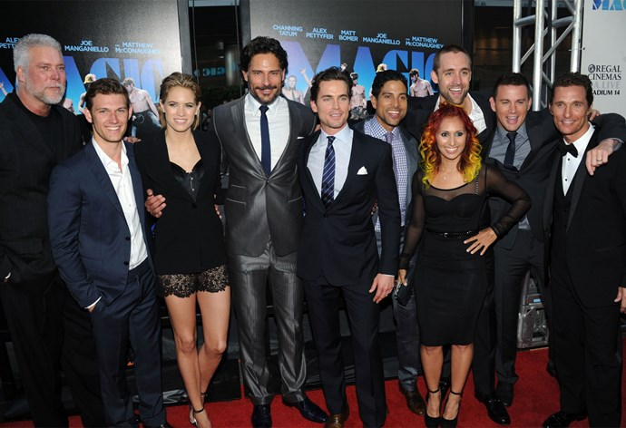 The cast of *Magic Mike* at the premiere. Photo: Getty