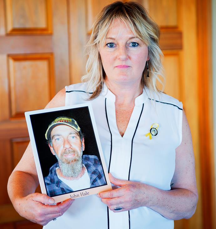 Brenda believes her partner John's body is lying near the entrance of the mine.
