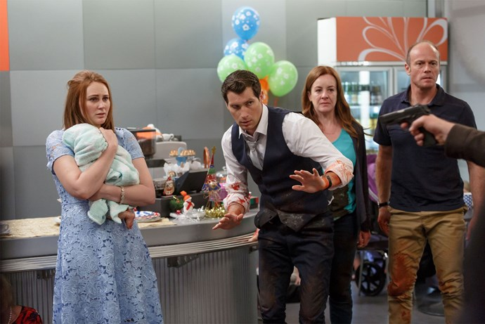 A dramatic shootout left the hospital in shambles during last night's episode. Photo: Supplied