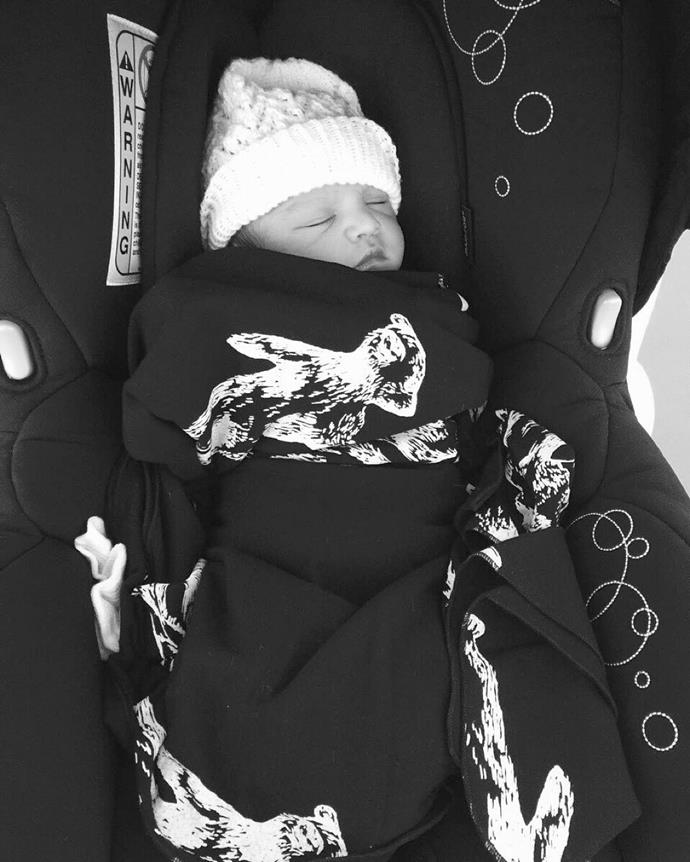 All Black star Jerome Kaino welcomed his third child Grayson in early December. Photo: Instagram