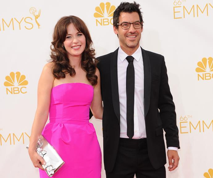 *New Girl's* Zooey Deschanel welcomed her first child with husband Jacob Pechenik in August. The duo are proud parents to daughter Elsie Otter. Photo: Getty