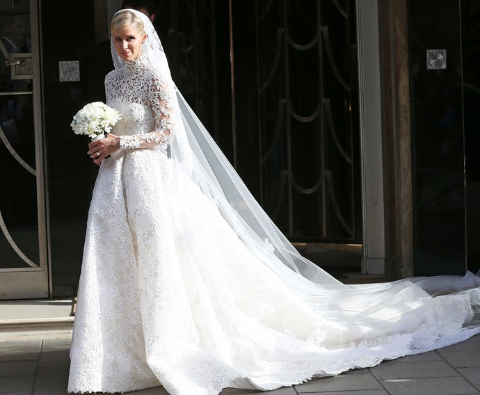 Nicky Hilton wed banker James Rothschild in the super luxe Orangery at Kensington Palace in July. The bride wore an ivory and silver Valentino gown, and guests at the glittering event dined on everything from caviar and foie gras to mini pizzas and mac and cheese.