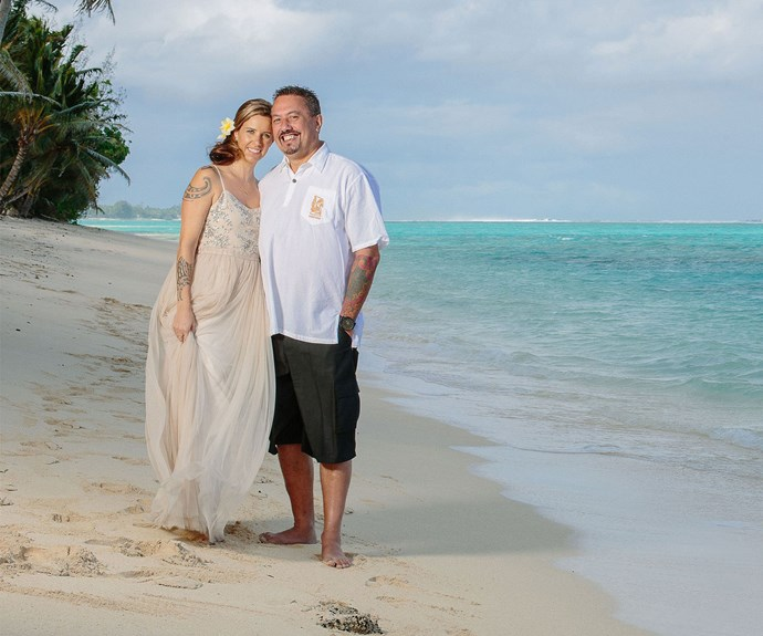 Mike King and Joanna Methven wed in a stunning ceremony at Rarotonga's Vai Villas earlier this year.