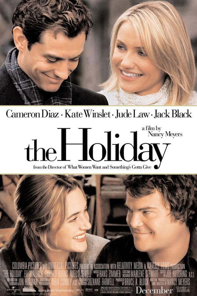 In *The Holiday*, Cameron Diaz and Kate Winslet star as two women who decide to swap homes at Christmastime after bad breakups, only to find a little local romance with Jude Law and Jack Black's characters.