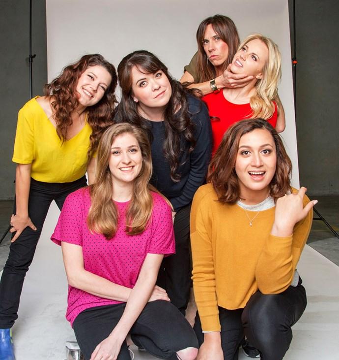 *Funny Girls* (clockwise from left) Chelsea McEwan Millar, Laura Daniel, Jackie van Beek, Kimberley Crossman, Rose and  Brynley Stent.