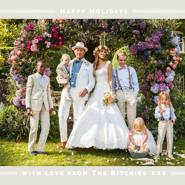 Guy Ritchie with his new wife Jacqui Ritchie, sons David and Rocco to Madonna, and the newlywed couple's own children Rafael, Levi and Rivka. Photo: Instagram.
