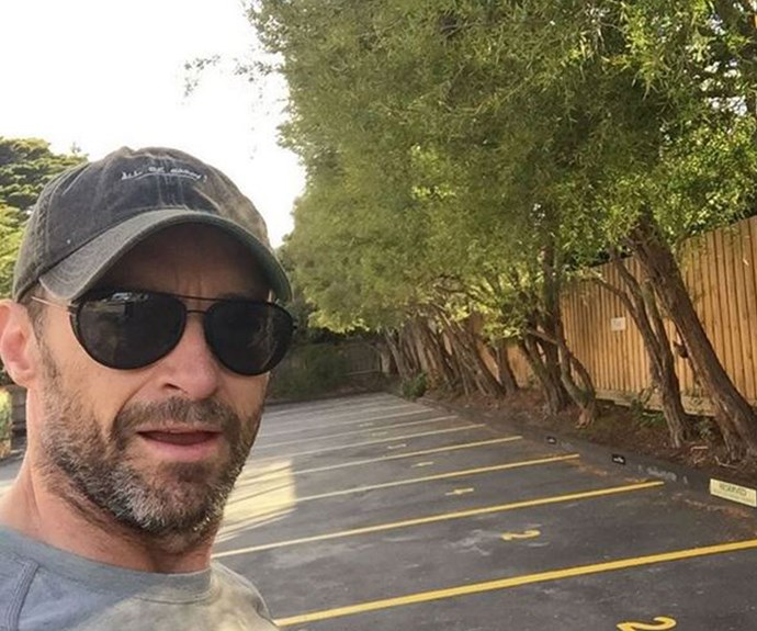 "**Hugh Jackman** ""This is what the gym parking lot looks like on New Year's morning!!"" (Instagram)"