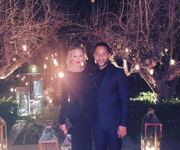 "**John Legend** and **Chrissy Teigen** ""Happy New Year, guys!! We love you, we really do. What a year...already thinking about how different this one will be!! Bye bye 2015 - thank you for everything you brought and taught us!"" (Instagram)"