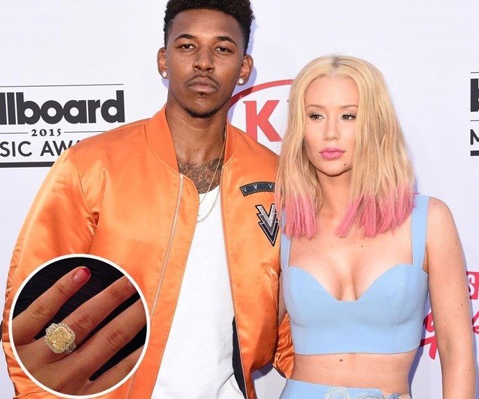 Rapper Iggy Azalea's engagement ring cost a whopping $700,000! Photo: Getty/Instagram