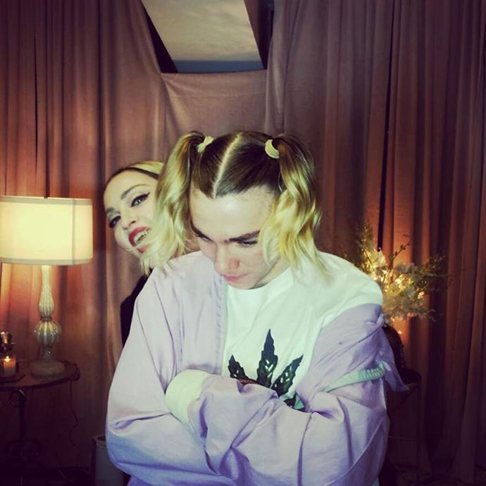 Fans have speculated whether Madonna's habit of sharing embarrassing pictures of Rocco is to blame for the rift. Photo: Instagram