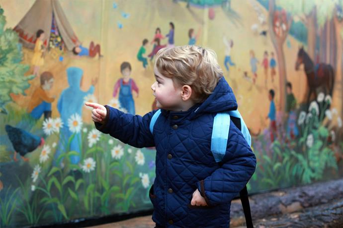 Prince George visited his school for a few hours, to help him transition into the lessons. Photo: Getty